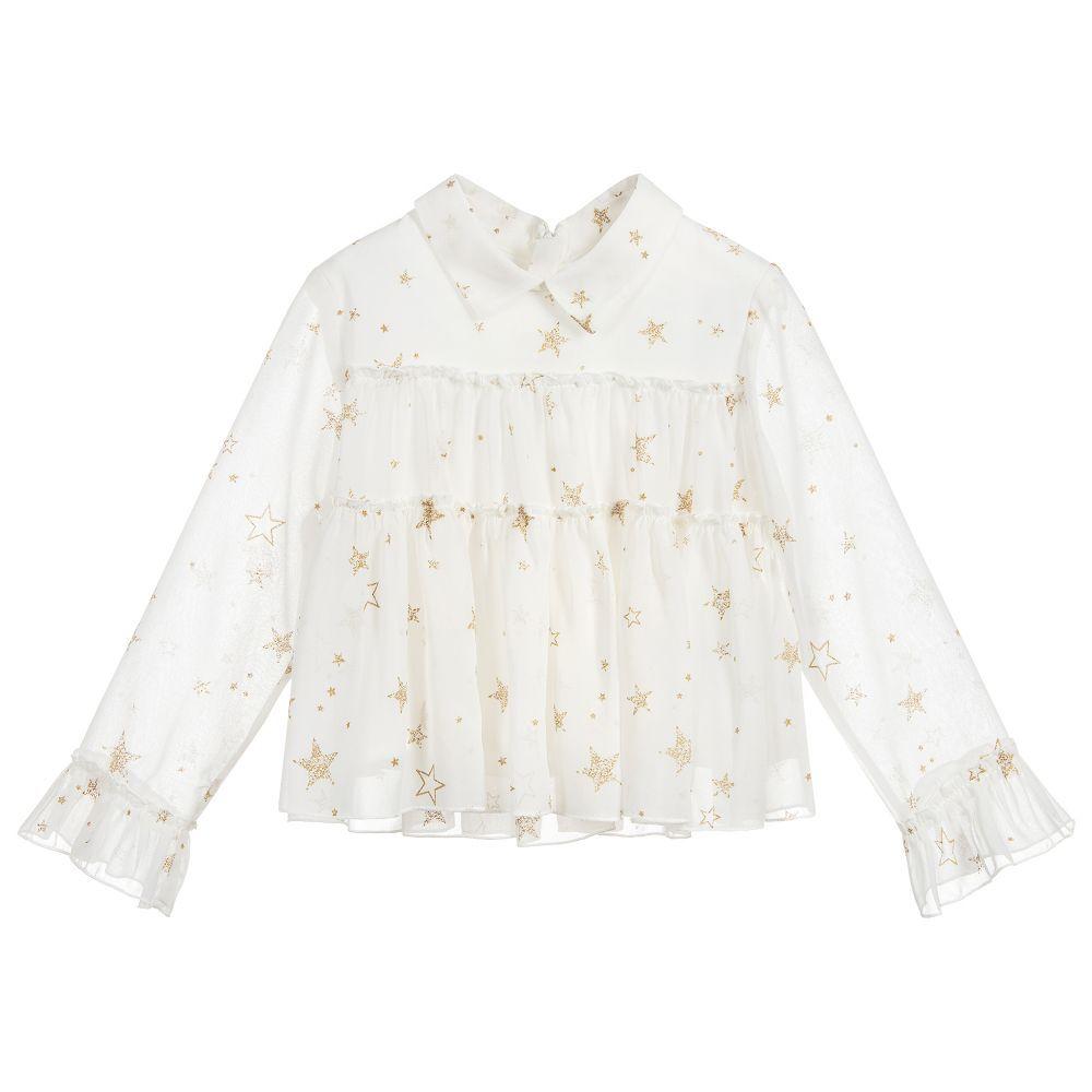 girl mayoral ruffle blouse