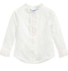 girl **sale** mayoral ruffle blouse, white