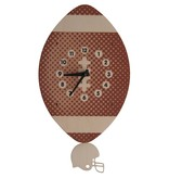 decor modern moose football pendulum clock