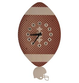 decor modern moose football pendulum clock