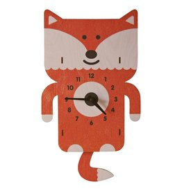 decor modern moose fox pendulum clock