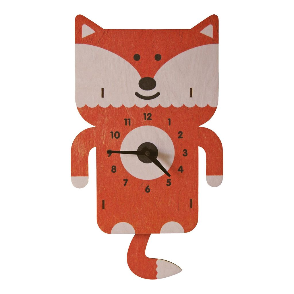 decor modern moose fox pendulum clock