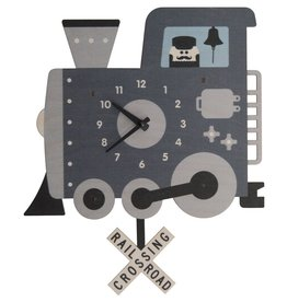 decor modern moose train pendulum clock