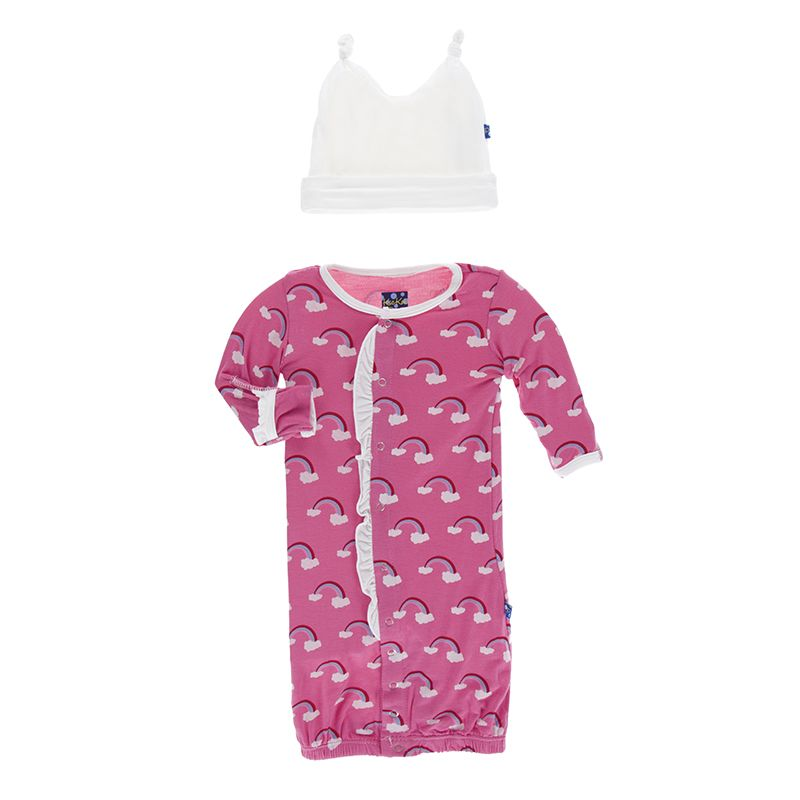 baby kickee pants gown & hat set (more colors)