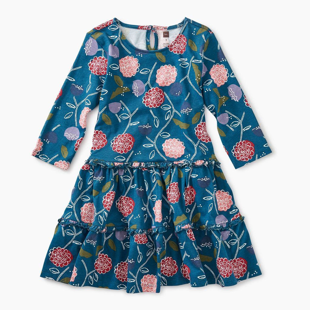 master printed tiered dress