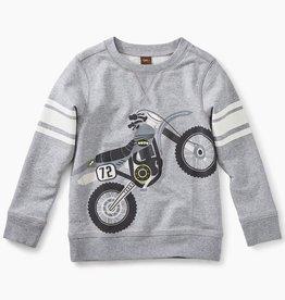 master moto bike graphic sweatshirt