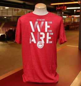 """CCM """"We Are"""" Red Tee XXL"""