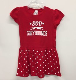 Toddler Dress Red Dot Size 2
