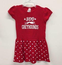 Toddler Dress Red Dot Size 4