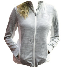 Ladies White Full Zip