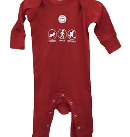 Crawl, Walk, Hockey Infant Coverall