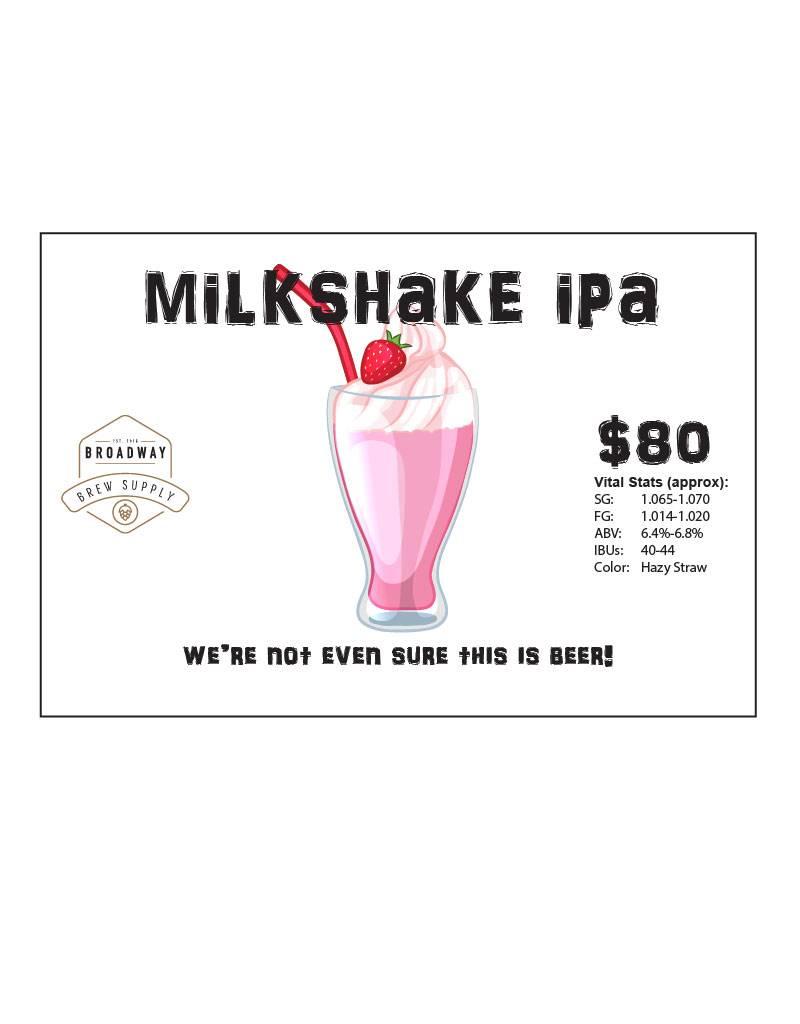 Milkshake IPA 5 Gal Beer Recipe Kit