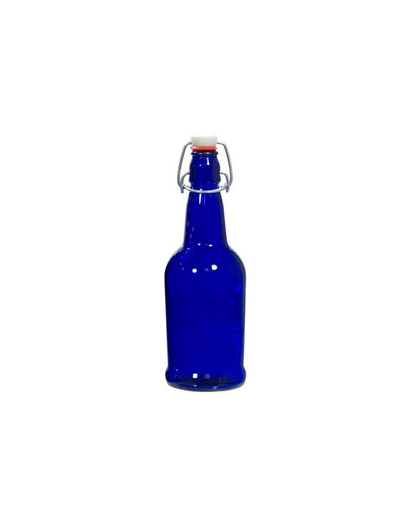 Blue E.Z. Cap Bottles - 16 Oz. 12/Case With Caps