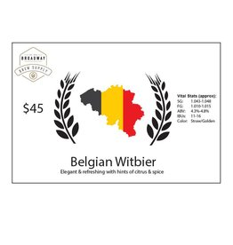 Belgian Witbier 5 Gal Beer Recipe Kit