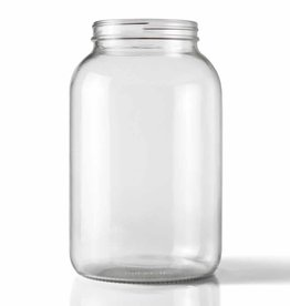 WIDE MOUTH CLEAR ONE GALLON GLASS JUG single