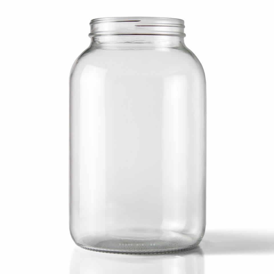 WIDE MOUTH CLEAR ONE GALLON GLASS JAR 4/CASE