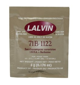 71B Lalvin Dry Wine Yeast, 5 g - Each