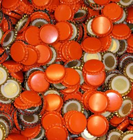 Orange Crown Bottle Caps