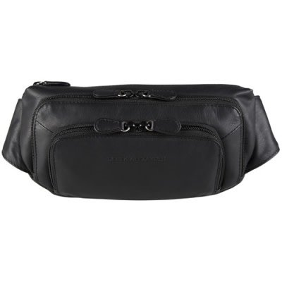 DEREK ALEXANDER 3 ZIP LEATHER WAIST PACK