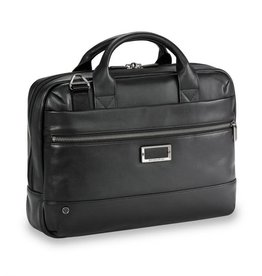 BRIGGS & RILEY @WORK SLIM LEATHER BRIEF