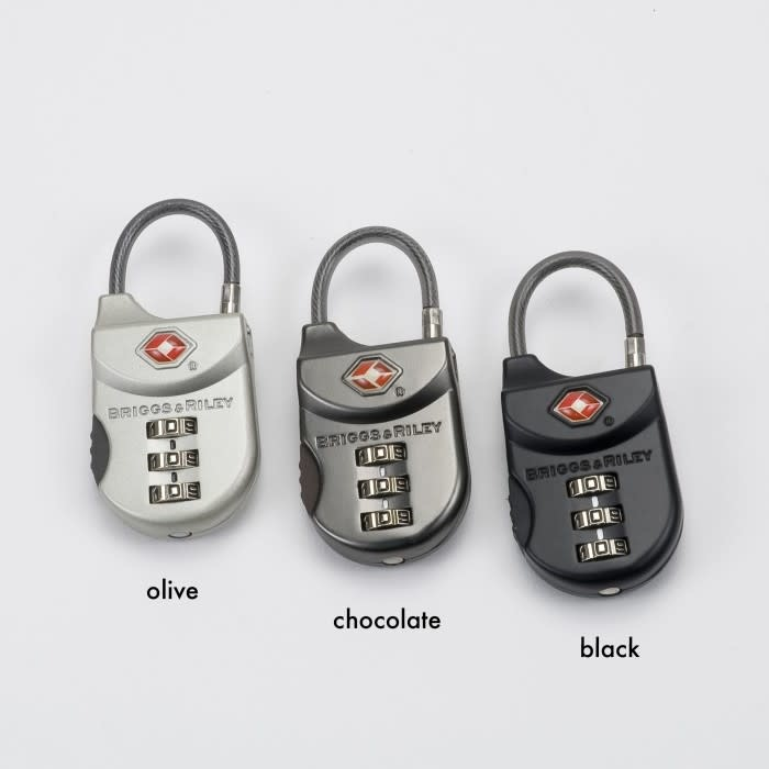 BRIGGS & RILEY TSA CABLE LUGGAGE LOCK (METAL)