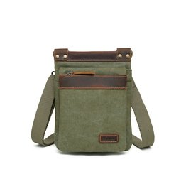 DAVAN DAVAN CANVAS BAG LEATHER TRIM
