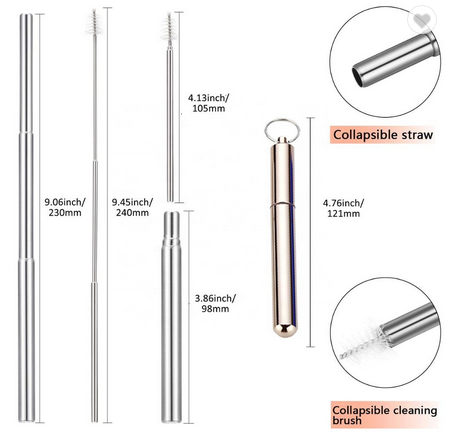 BNA STAINLESS STEEL STRAW