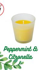 PEPPERMINT CITRONELLA GLASS HOLDER
