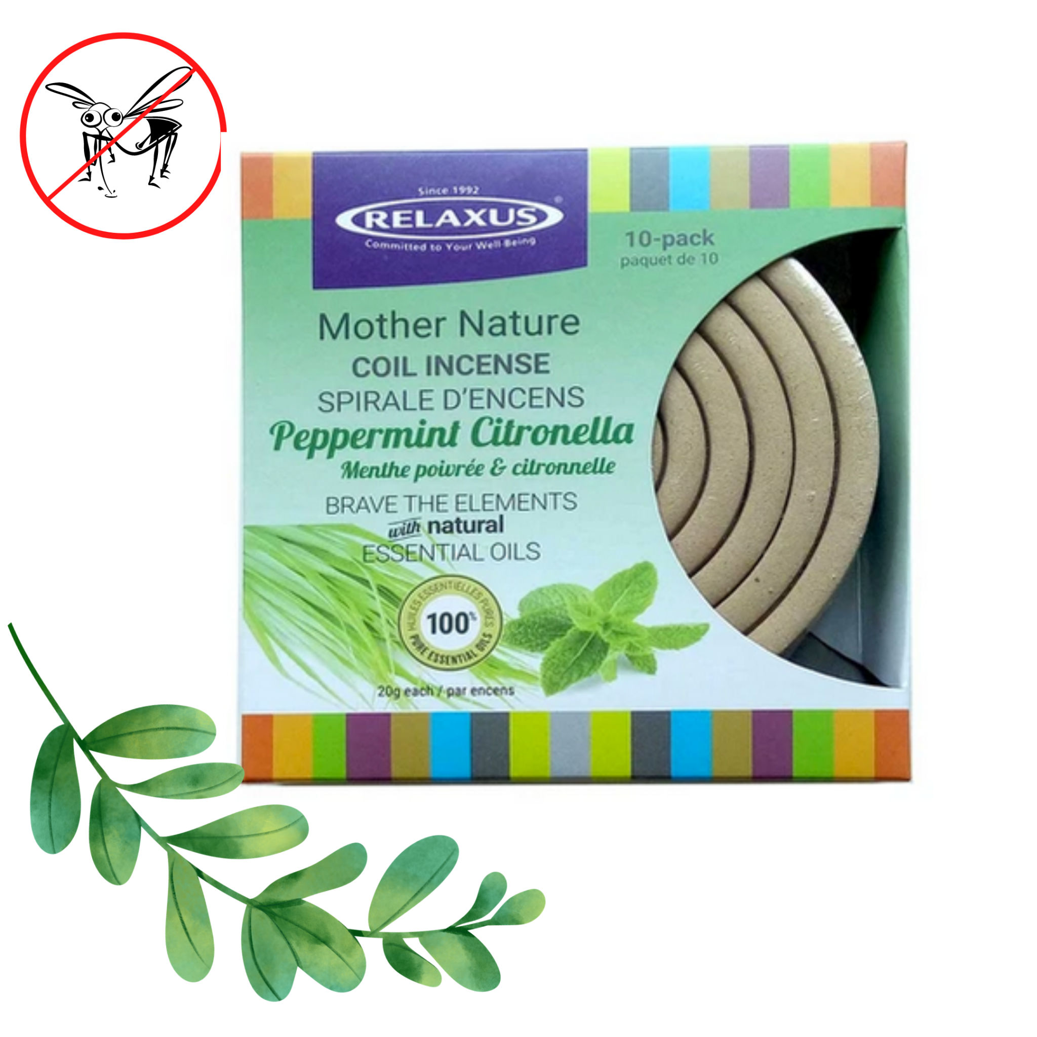 PEPPERMINT CITRONELLA COIL INCENSE