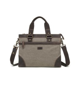 DAVAN SHOULDER BAG w/LEATHER TRIM