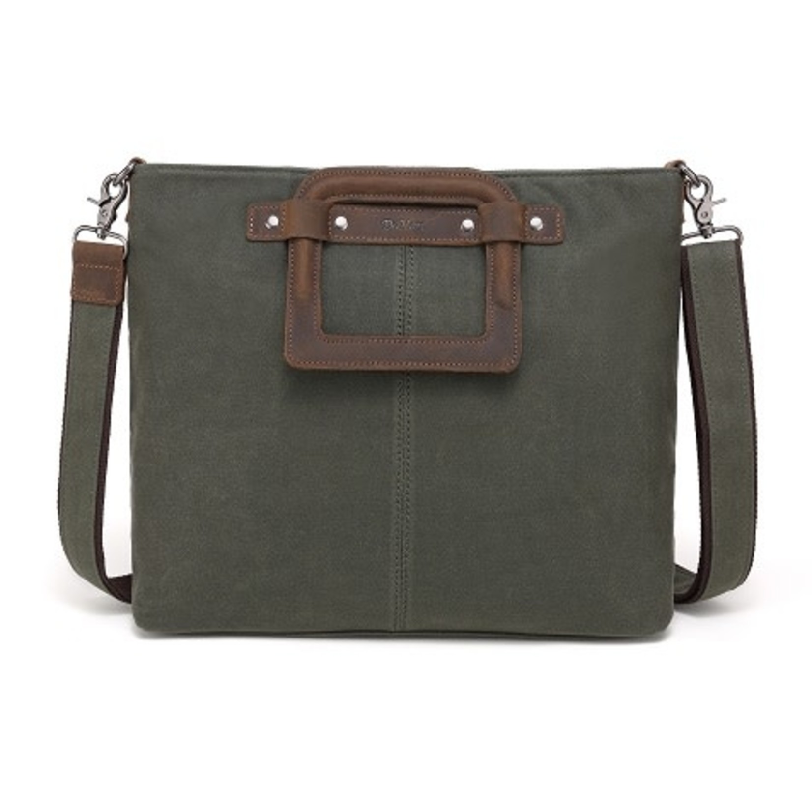 DAVAN DAVAN WAXED CANVAS SHOULDER BAG