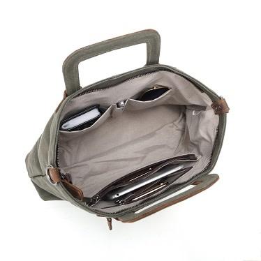 DAVAN WAXED CANVAS SHOULDER BAG