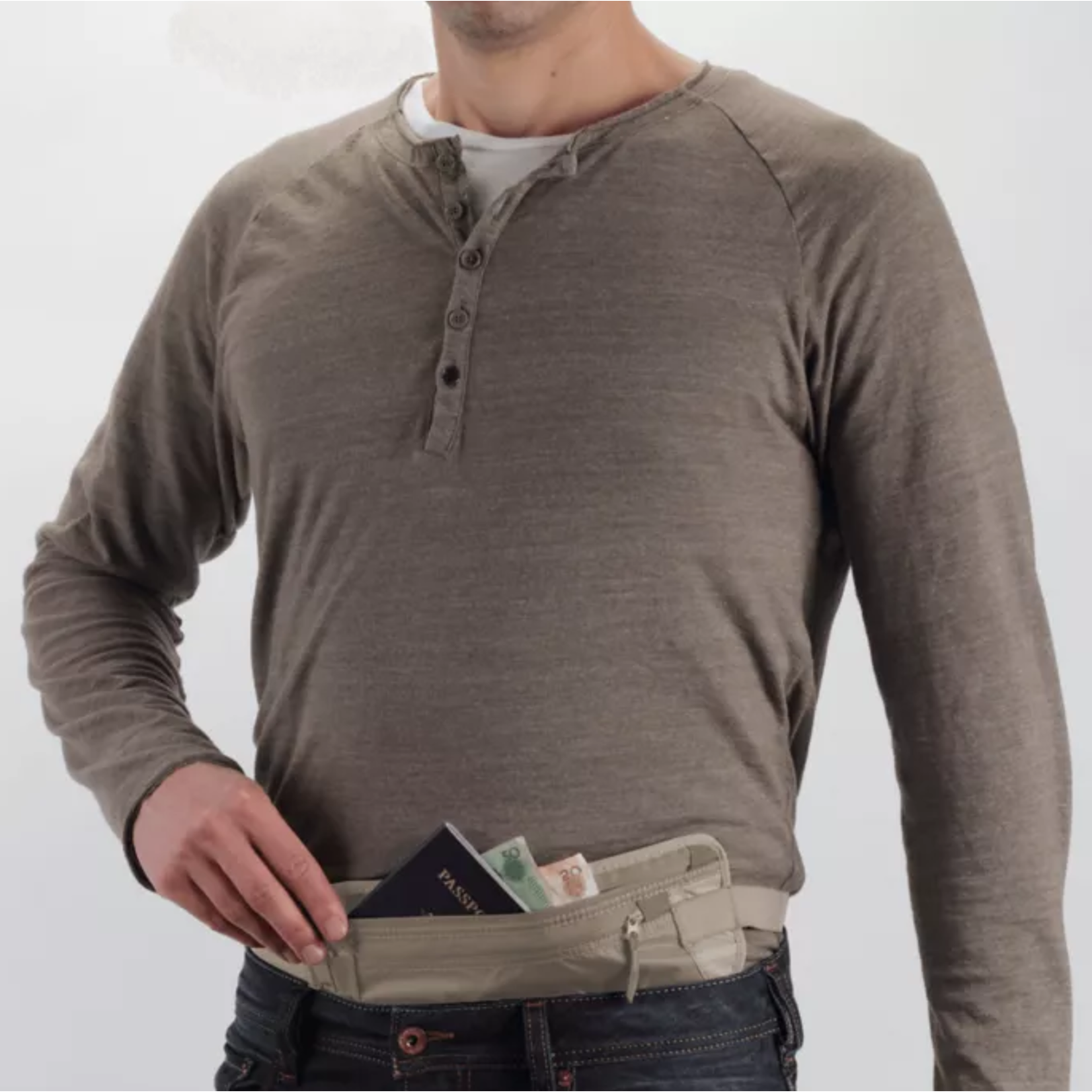EAGLE CREEK RFID BLOCKER MONEY BELT DLX
