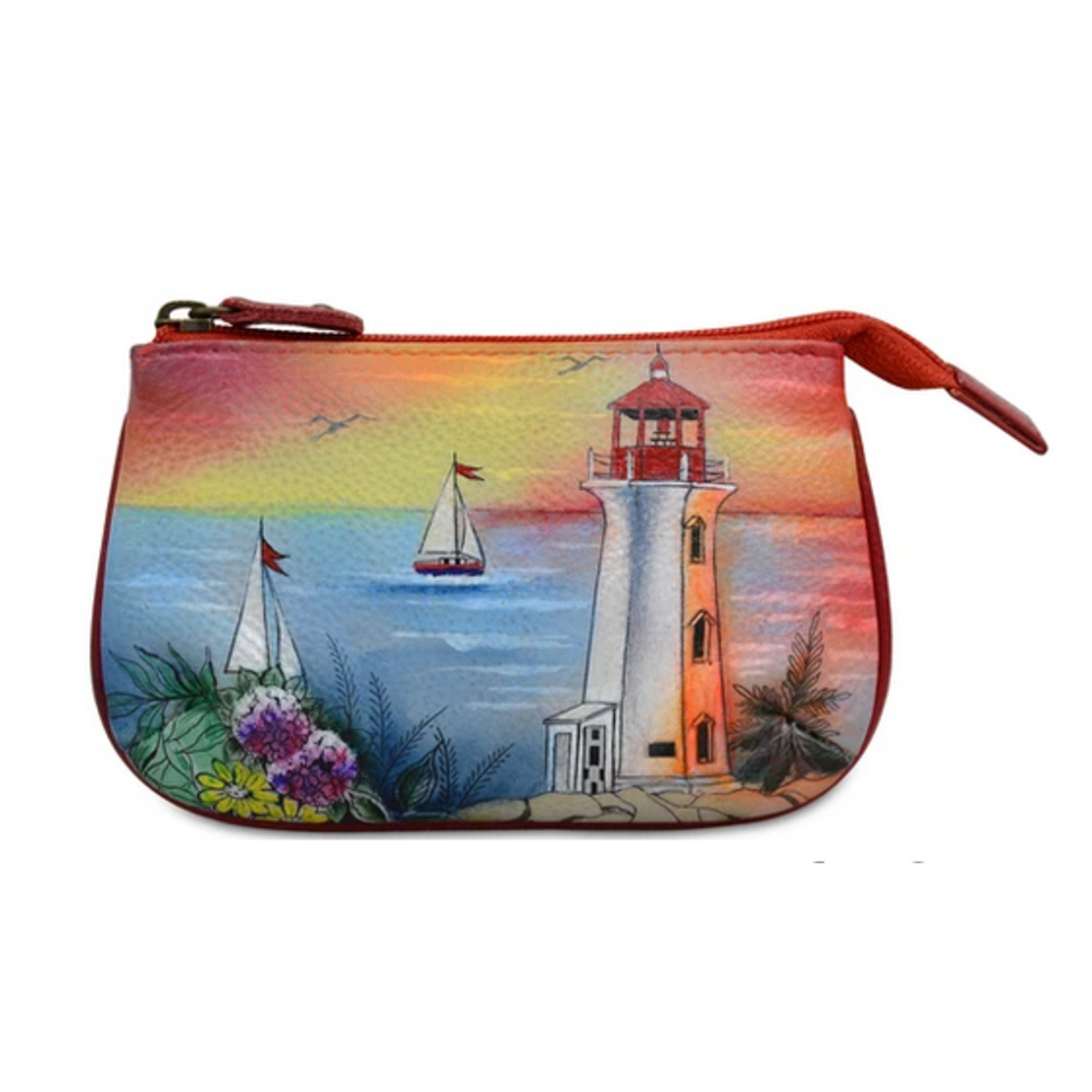 Anuschka PAINTED MEDIUM ZIP POUCH