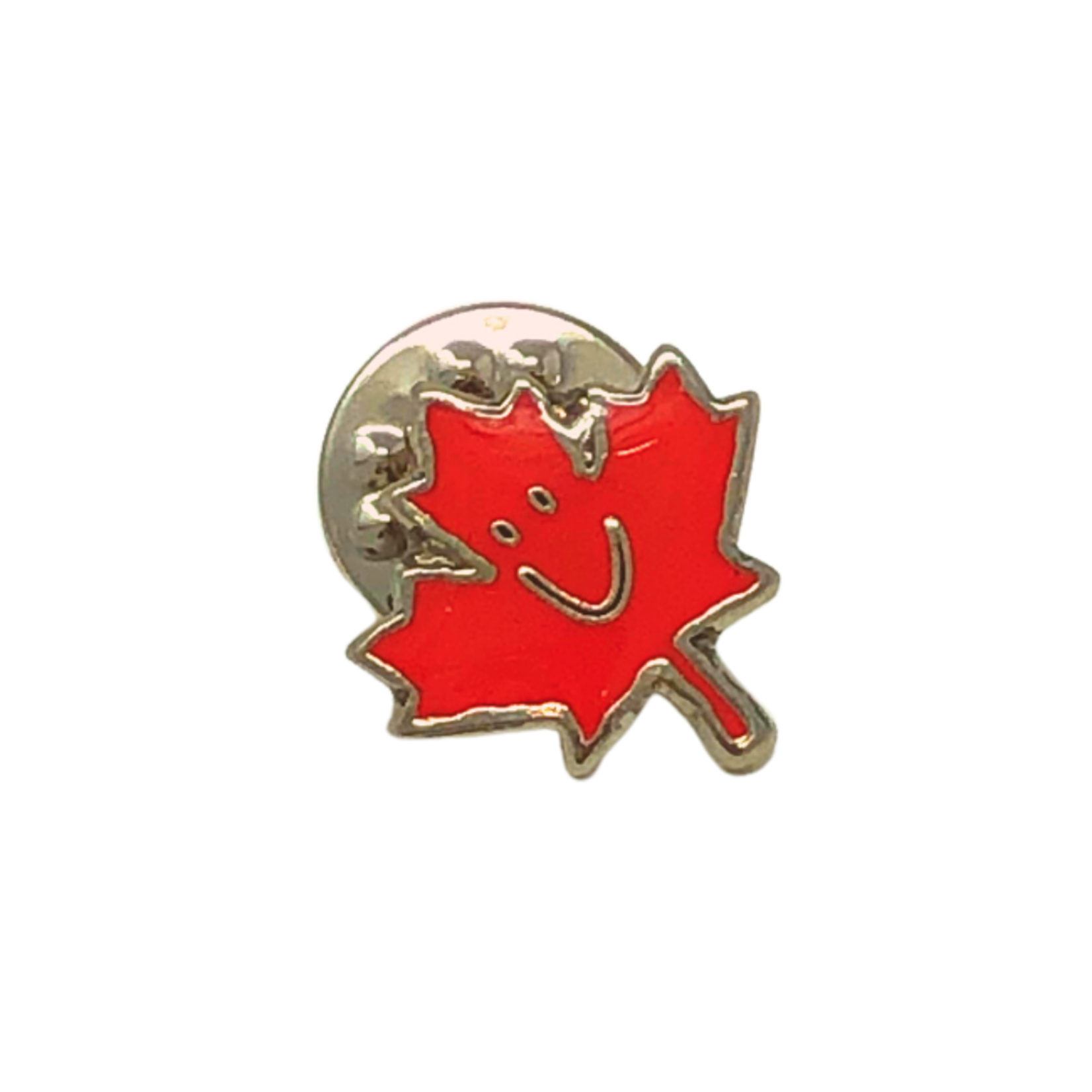 MAPLE LEAF HAPPY FACE PIN