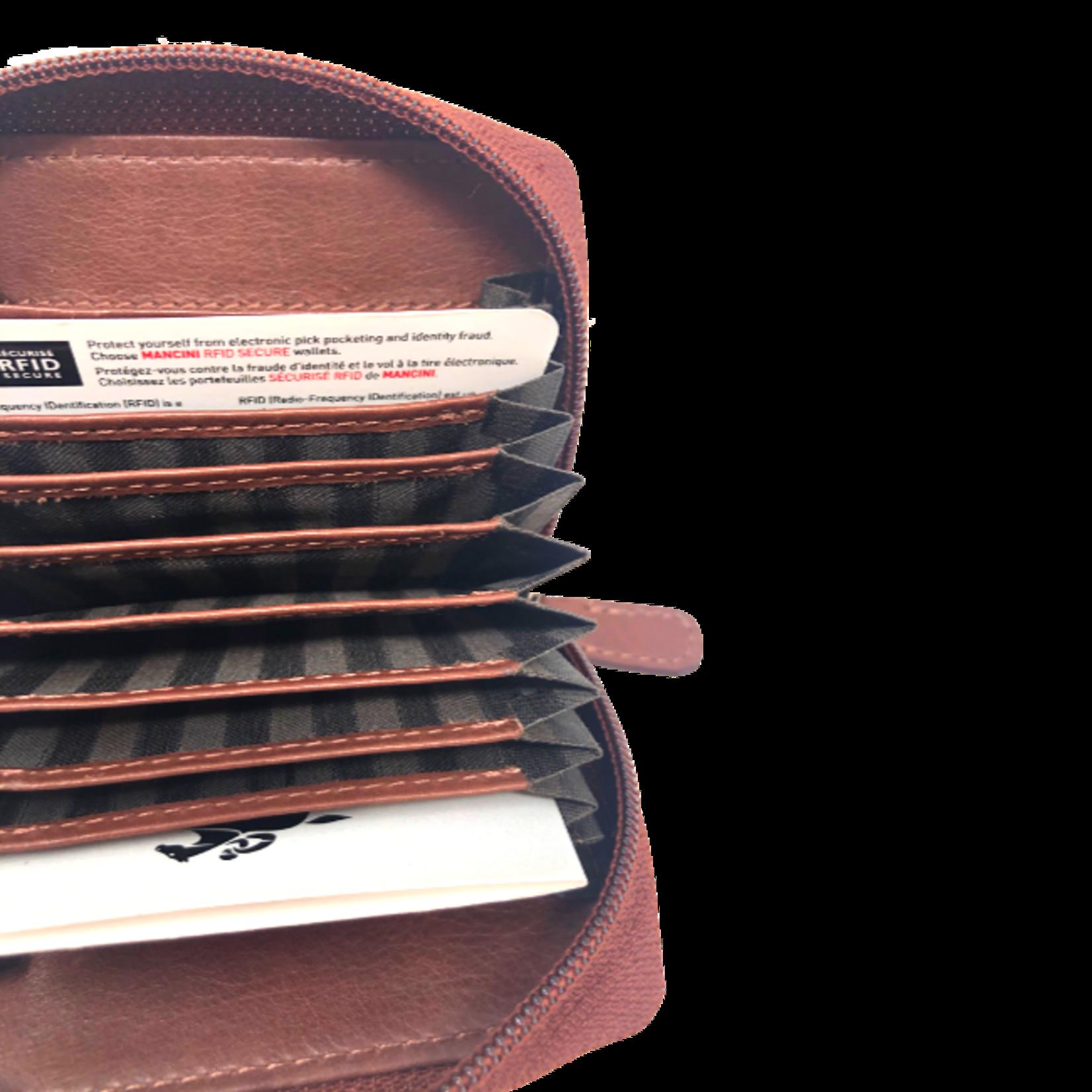 MANCINI ACCORDION CREDIT CARD CASE