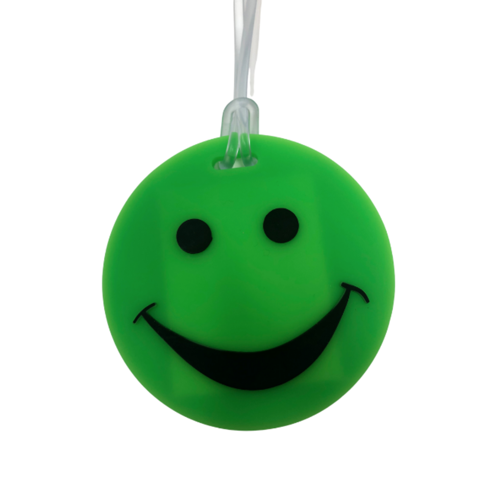 SMILEY FACE RUBBER TAG