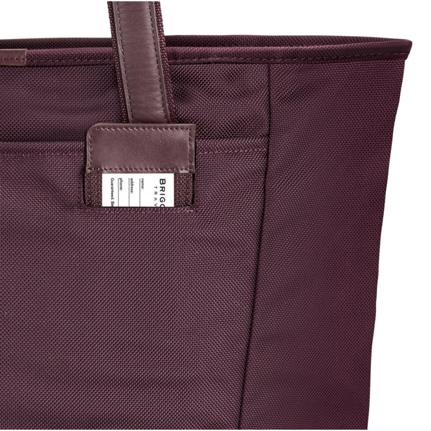 BRIGGS & RILEY BASELINE LARGE SHOPPING TOTE Plum