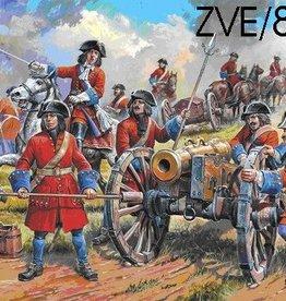 Zvezda (ZVE) 1/72 Russian Artillery Peter/Great