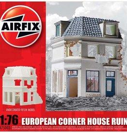 Airfix (ARX) 1/76 European corner house ruin