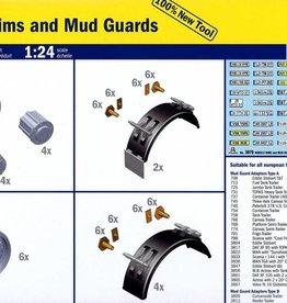 Italeri (ITA) 1/24 Wheels, Rims, & Mud Guards