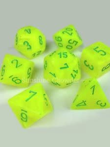Chessex (CHX) 7die Vortex Yellow/Green