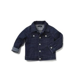 Blue and Blu Classic Denim Jacket, Dark Wash
