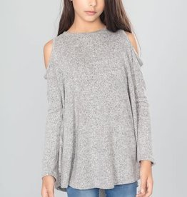 Pomelo Hacci Cold shoulder L/S Top