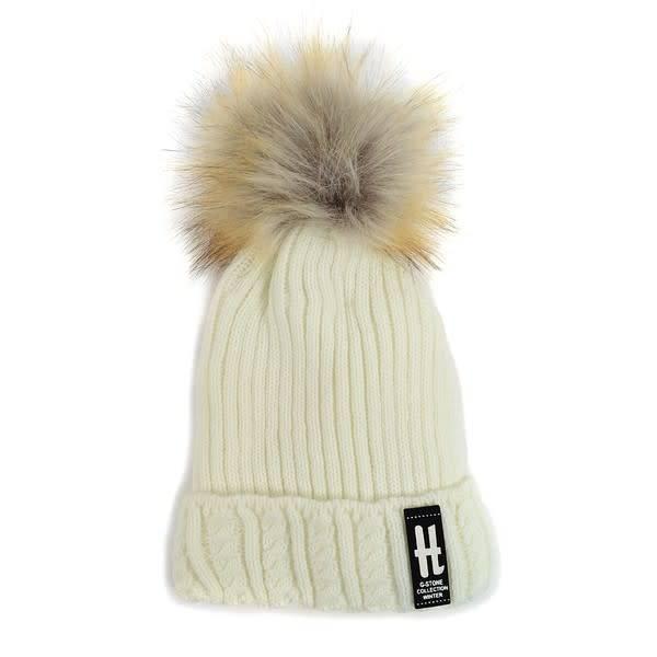 Selini Cable Knit Pom Pom Hat