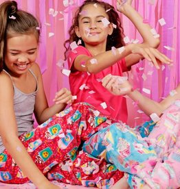 Candy Pink Girls Fleece Long PJ's