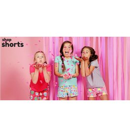 Candy Pink Fleece Shorts