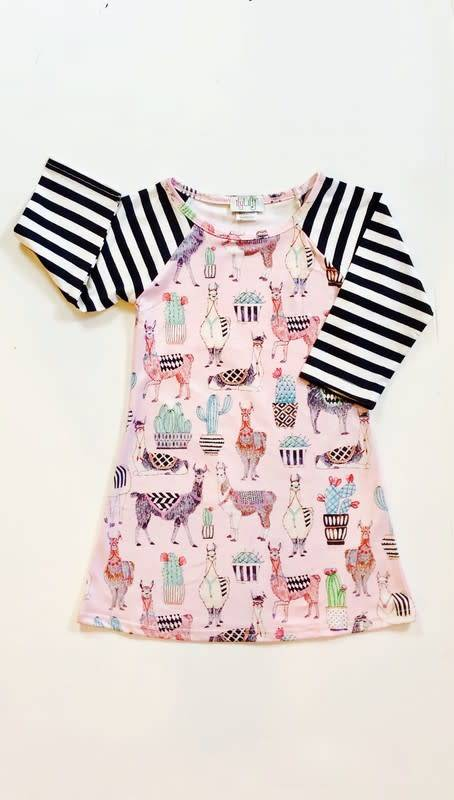 Ilylily A-Line Llama Dress