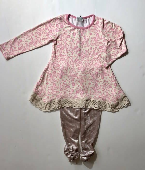 Ilylily Girl's Long Sleeve 2 pc Outfit