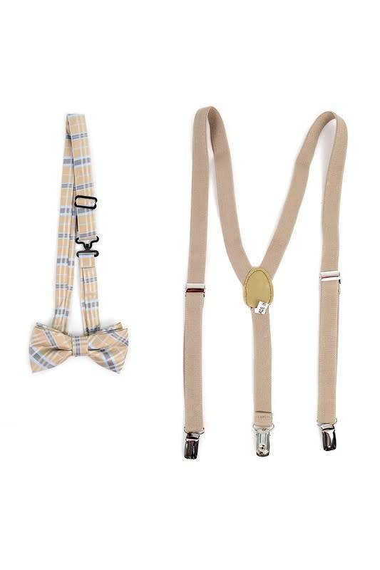 Selini Suspender and Bow Tie Set